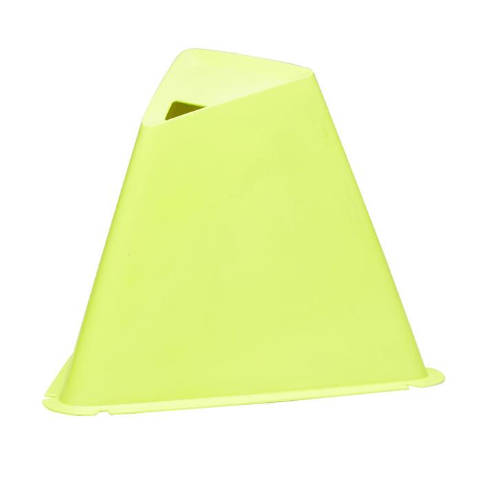 Set van 6 kegels voor voetbal Essential 15 cm geel