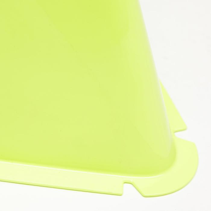 Set van 6 trainingskegels voor voetbal Essential 15 cm geel
