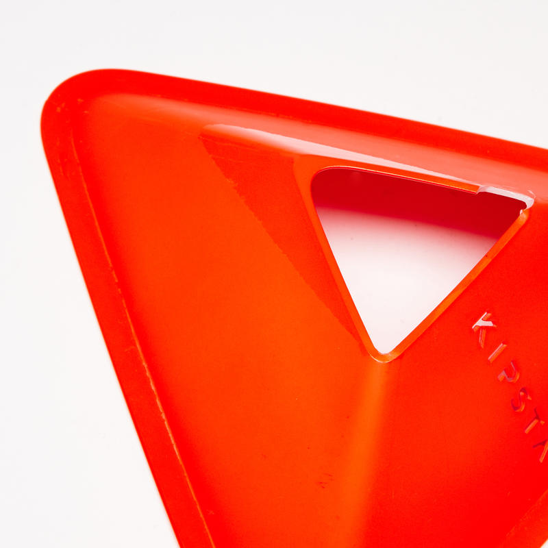 Essential Football Training Flat Markers 10-Pack - Orange