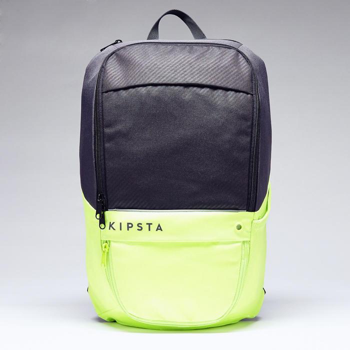 Rugzak Classic 17 liter koolstofgrijs en fluogeel