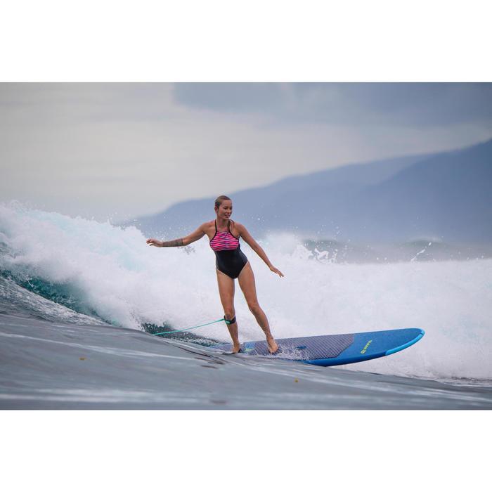 """Surfboard Soft Top Longboard 8'6"""" 500. Geleverd met een leash en 3 vinnen."""