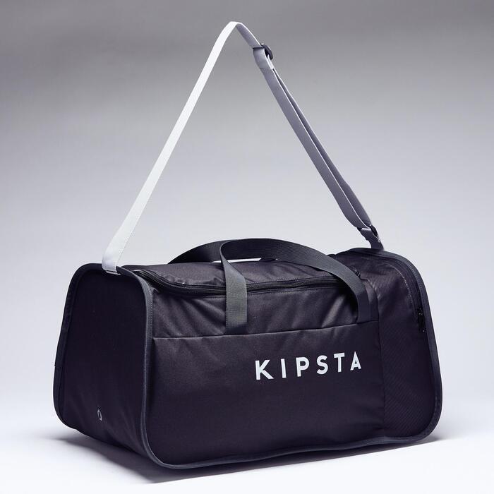 Voetbaltas / sporttas Kipocket 40 liter carbongrijs