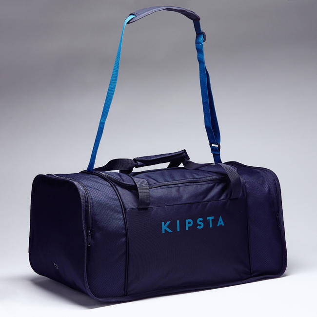 FOOTBALL duffle bag Kipocket 60 Litre - Blue