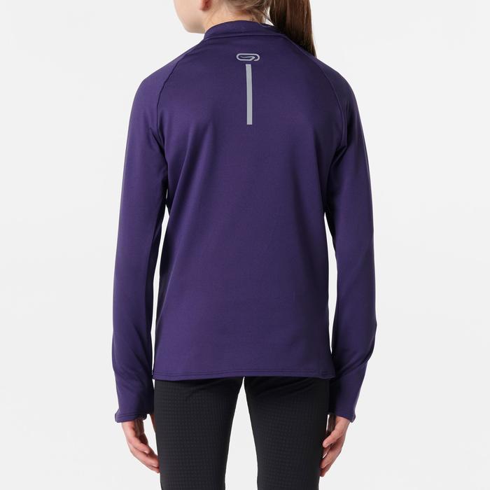 maillot manches longues athlétisme enfant run warm violet foncé