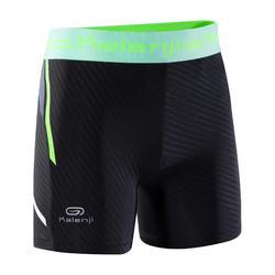 Sprinter children's athletics boxer shorts black mint fluo yellow