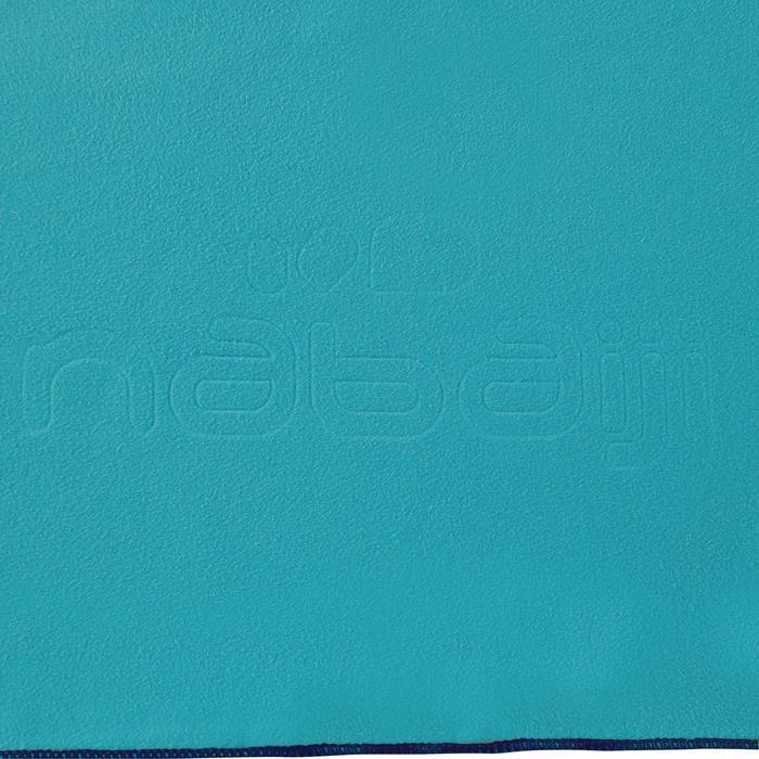 Serviette microfibre bleue taille 80 x 130 cm
