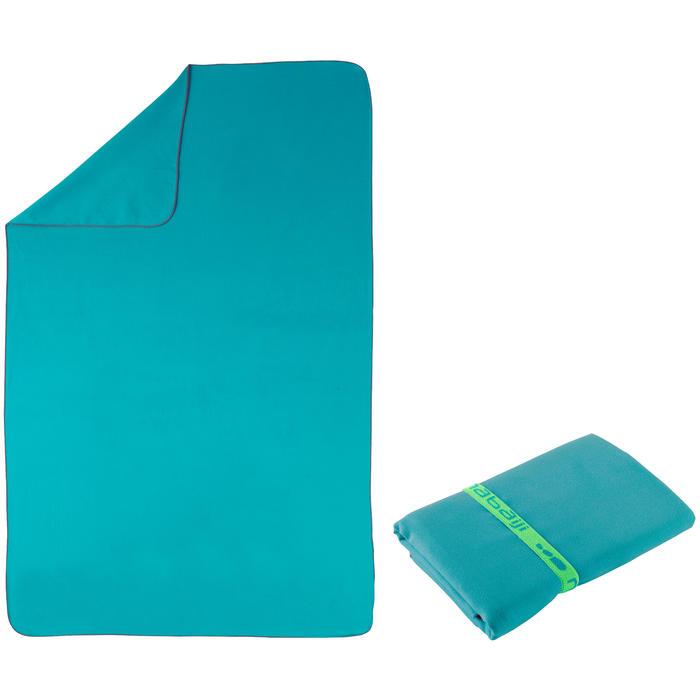 Supercompacte microvezel handdoek blauw maat L 80 x 130 cm