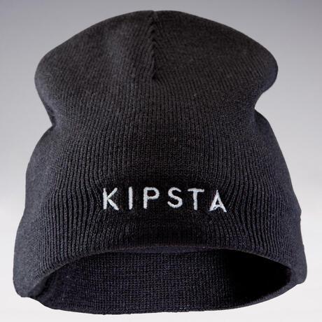 f412d40446df Bonnet enfant Keepwarm noir intérieur polaire   Kipsta by Decathlon