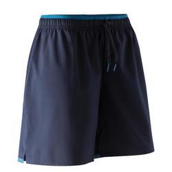 Pantalón corto de fútbol mujer F500 azul marino