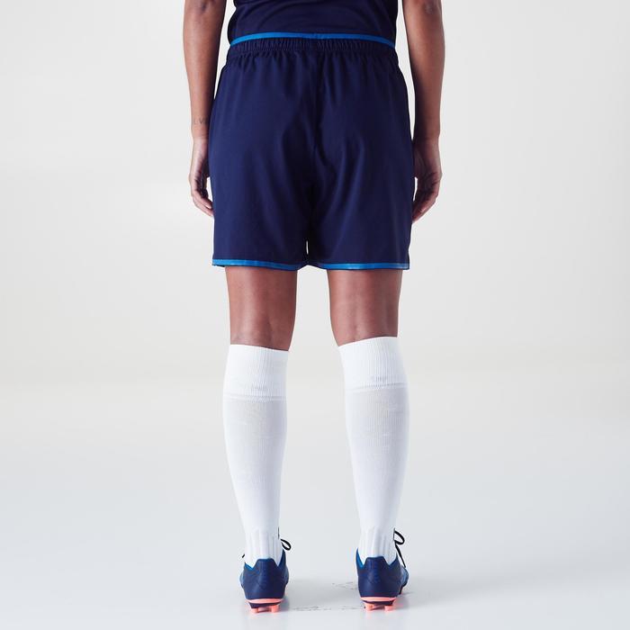 Fußballshorts F500 Damen marineblau