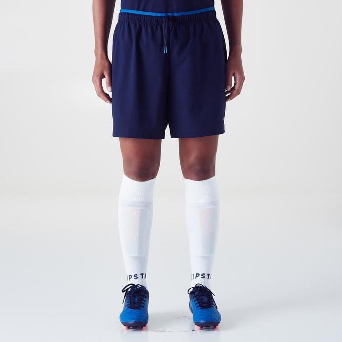 Short de football femme F500 gris menthe - 1354224