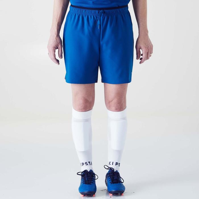 Fußballshorts F500 Damen blau