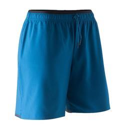 Pantalón corto de fútbol mujer F500 azul