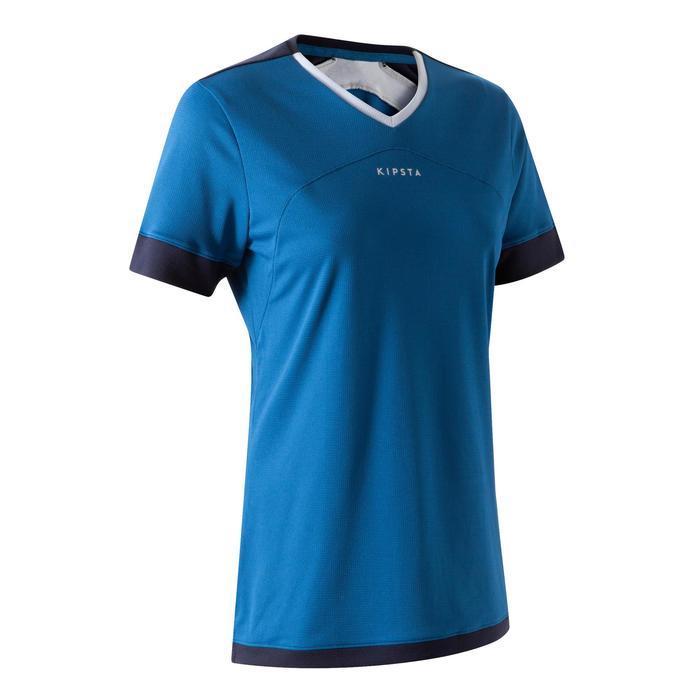 Fußballtrikot F500 Damen blau