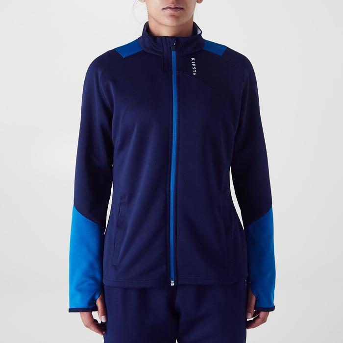 Veste d'entraînement de football femme T500 grise menthe - 1354251