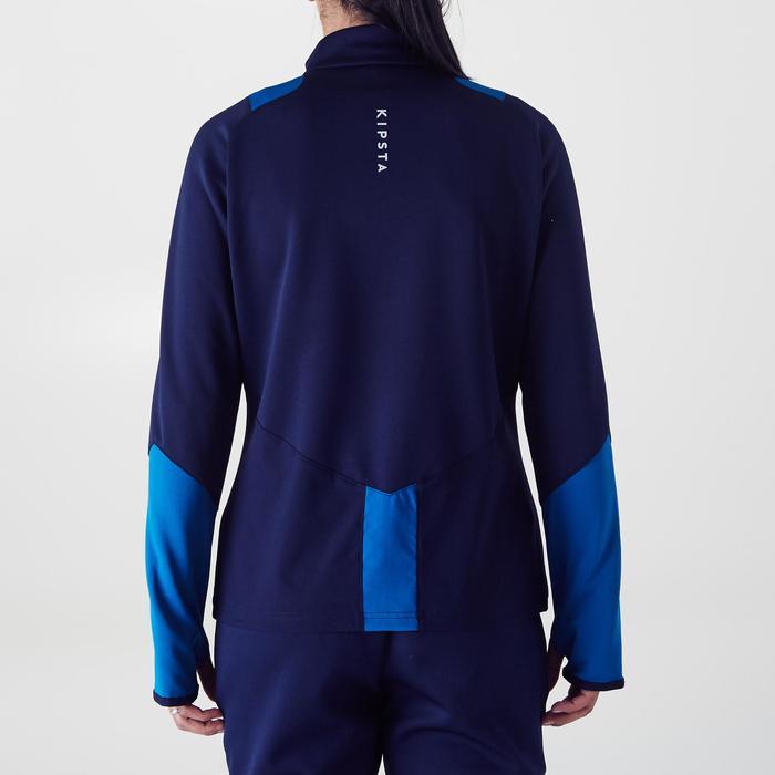 Veste d'entraînement de football femme T500 grise menthe - 1354252
