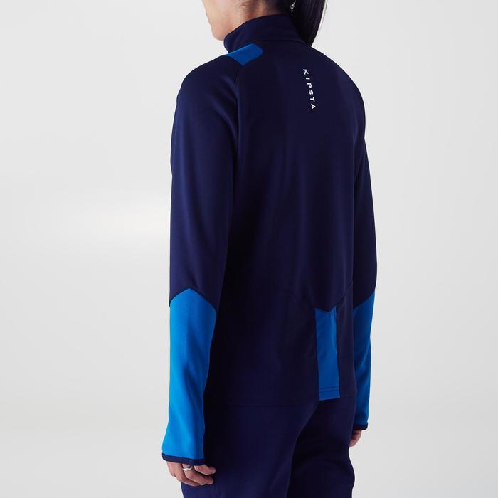 Veste d'entraînement de football femme T500 grise menthe - 1354255