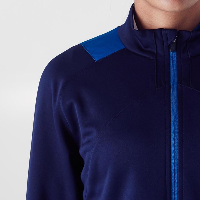 Veste d'entraînement de football femme T500 grise menthe - 1354257