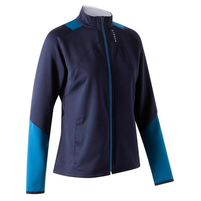 Veste d'entraînement de football femme T500 grise menthe - 1354260