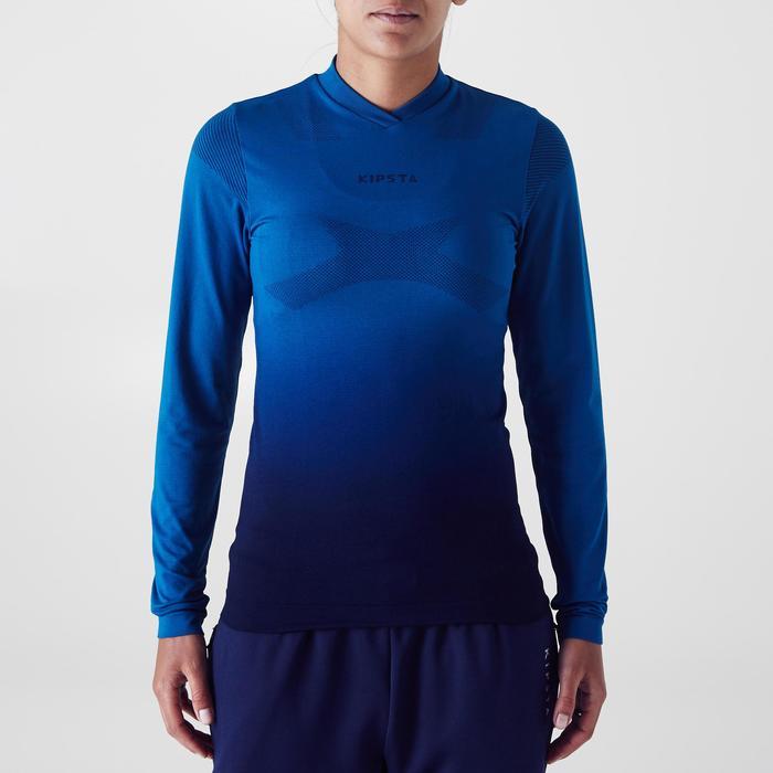 Sous maillot Keepdry500 manches longues femme bleu pétrole.