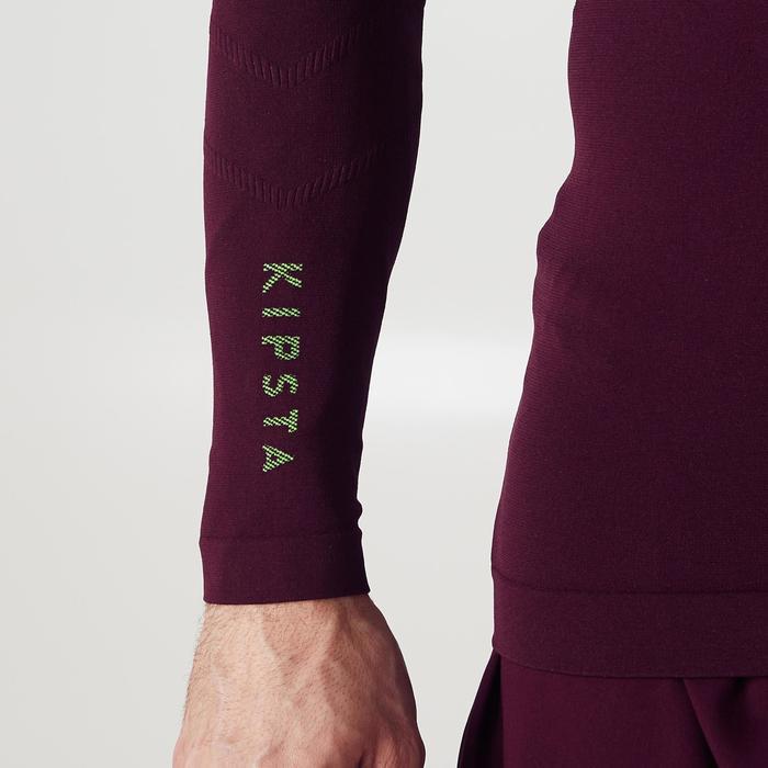 Funktionsshirt langarm Keepdry 500 atmungsaktiv Erwachsene violett
