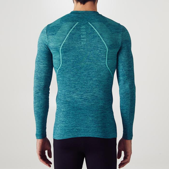 Keepdry 500 Adult Breathable Long-Sleeved Base Layer - Heather Green