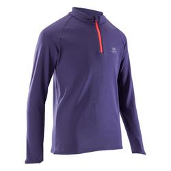 Run Warm long-sleeved children's athletics top - dark purple
