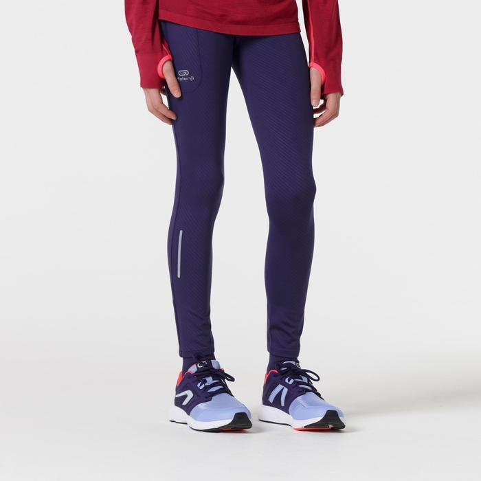 mallas largas atletismo niño run dry estampado violeta