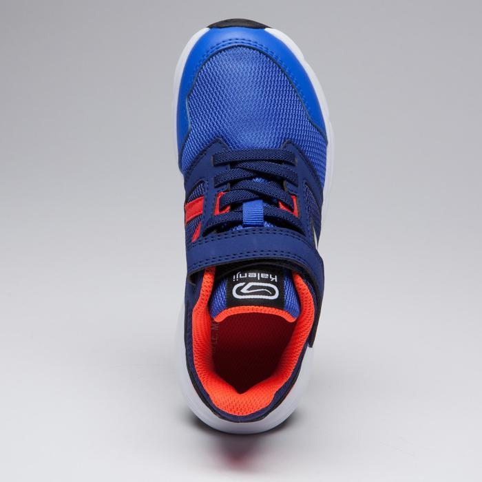 Zapatillas Atletismo Running Kalenji Run Support Niños Azul/Rojo