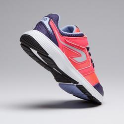 Laufschuhe Run Support Scratch Leichtathletik Kinder rosa/lila