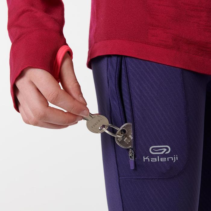 Atletiekbroek voor kinderen Run Dry paars met opdruk