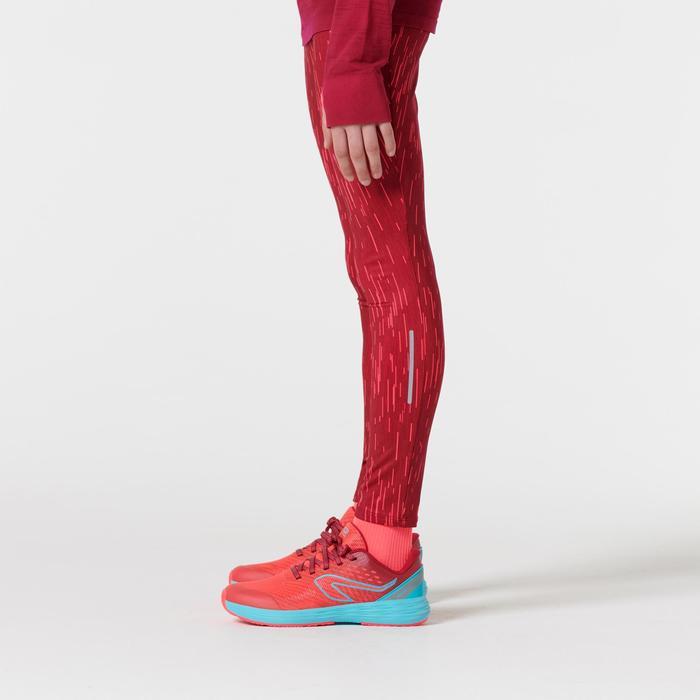 Atletiekbroek voor kinderen Run Dry roze met opdruk