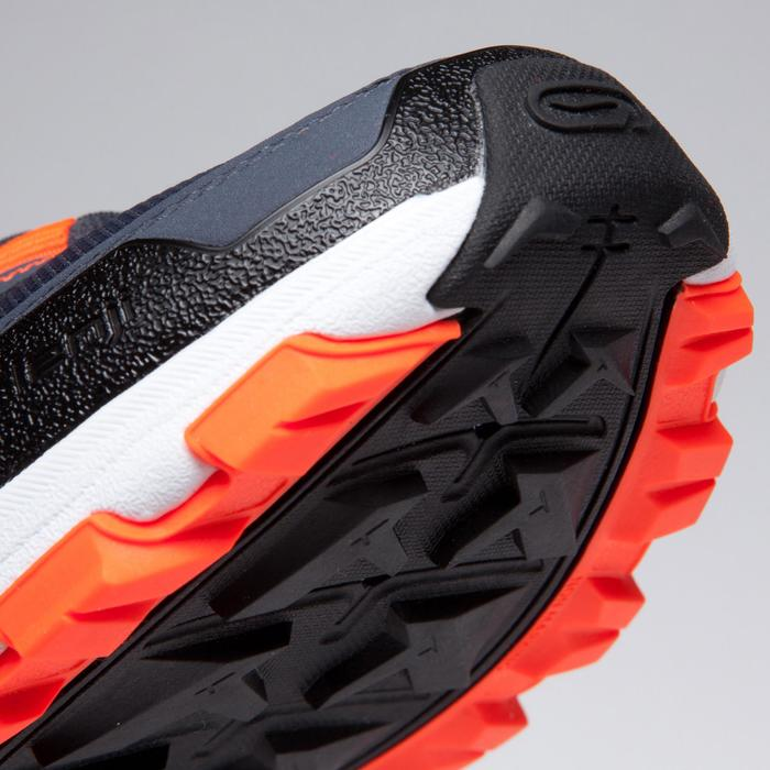 兒童款跑鞋&運動鞋KIPRUN GRIP - 灰色/黑色/霓虹橘