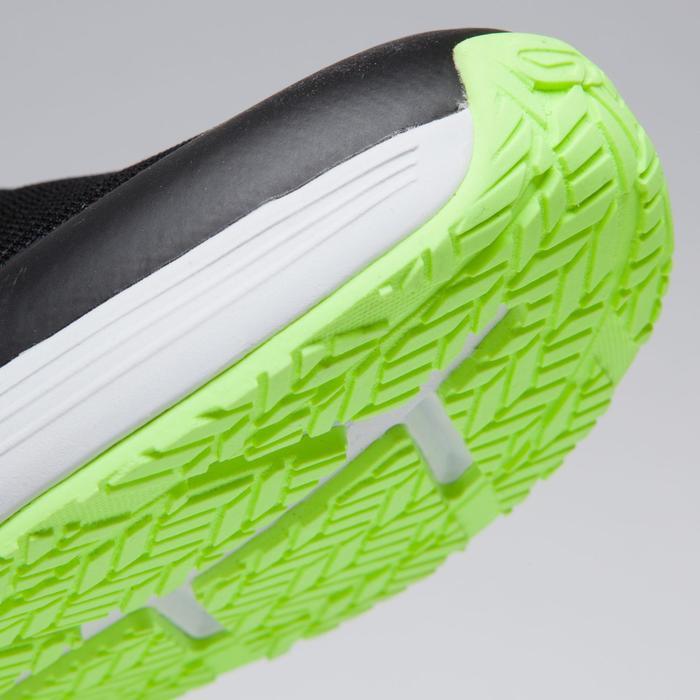 Atletiekschoenen voor kinderen Kiprun zwart/fluogeel