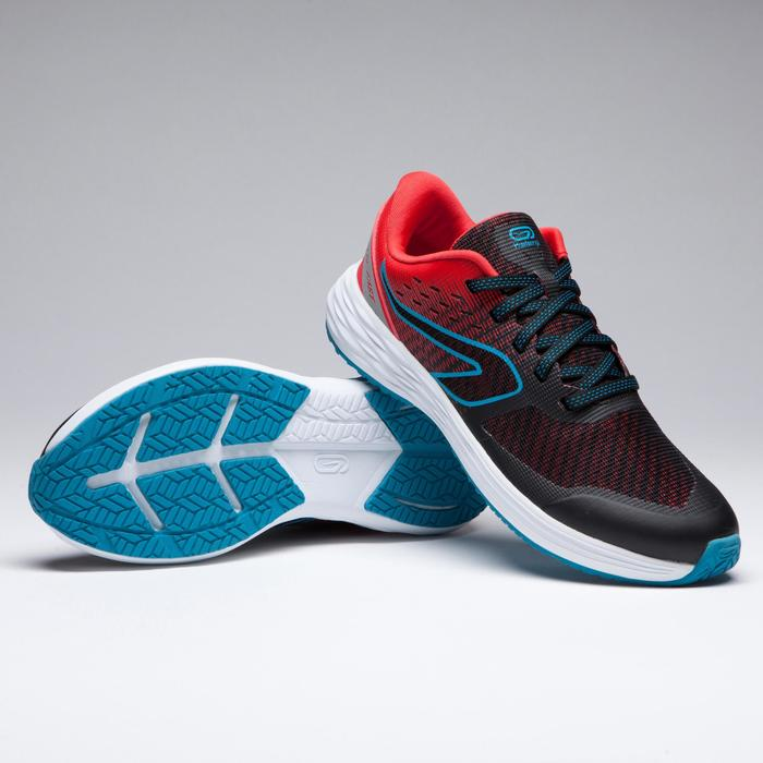 Zapatillas de atletismo para niños Kiprun rojo azul