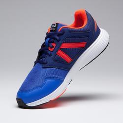 Laufschuhe Run Support Schnürung Kinder blau/neonrot