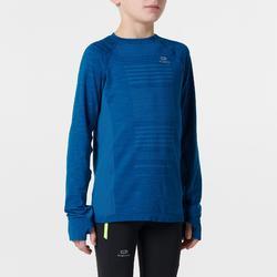 Atletiekshirt met lange mouwen voor kinderen Skincare blauw