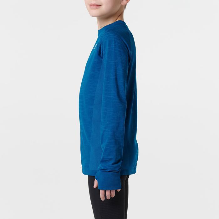 Atletiekshirt met lange mouwen voor kinderen Kiprun Care blauw