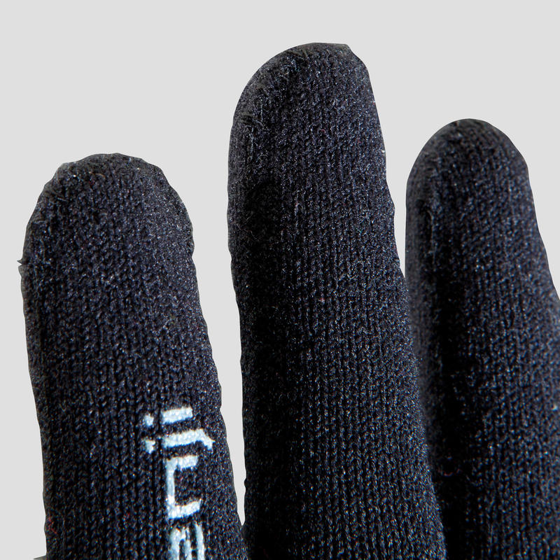 Gant Athlétisme enfant sans couture noir