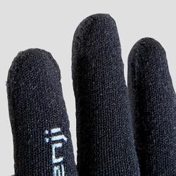 Guantes Atletismo Niños Kalenji Sin Costuras Negro