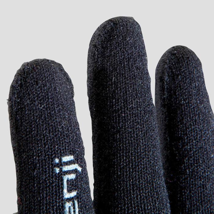 Laufhandschuhe nahtlos Kinder schwarz