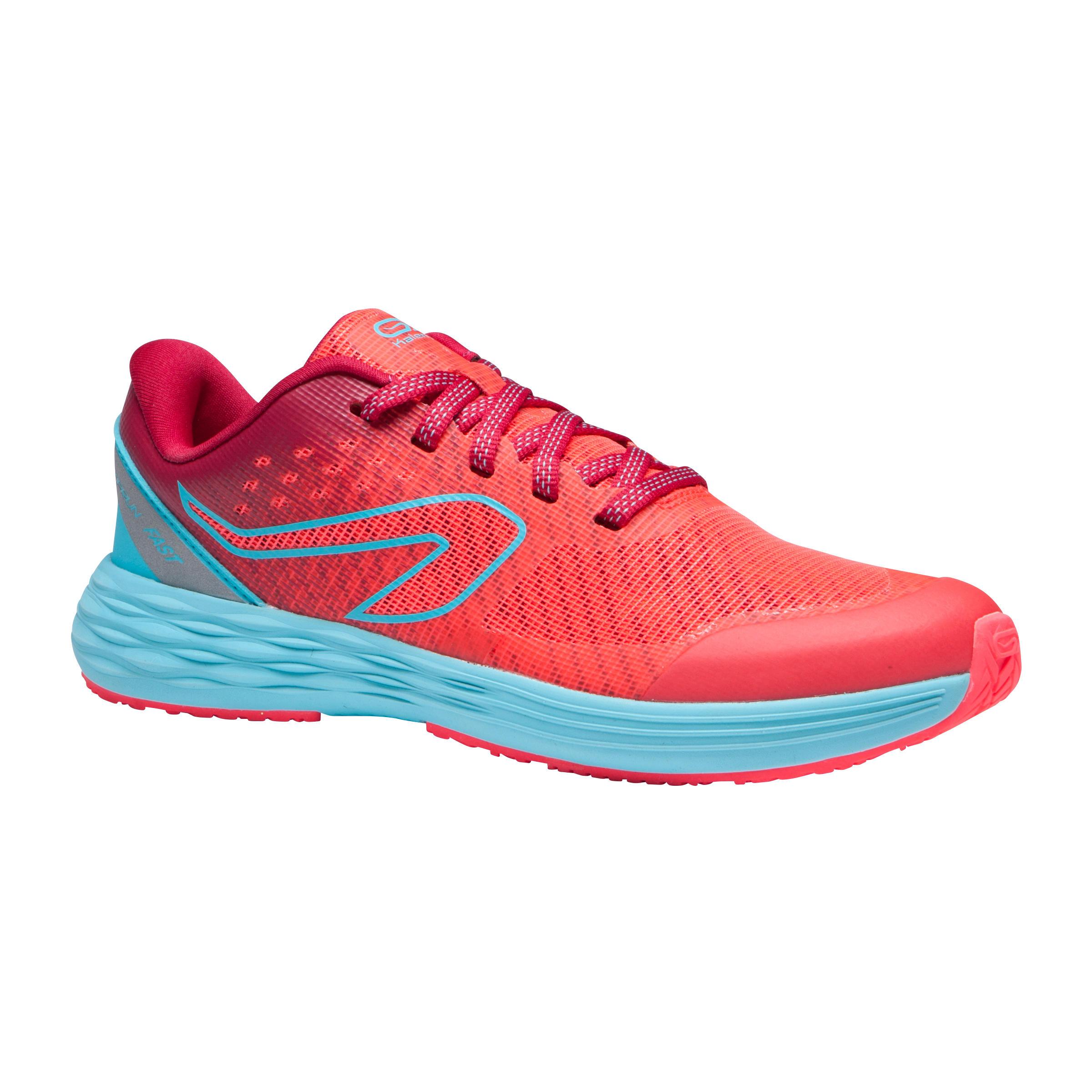 Espadrilles athlétisme enfant Kiprun Rose Turquoise