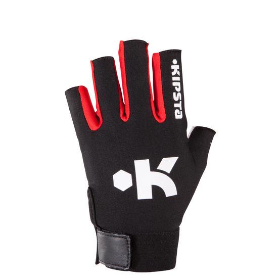 Rugby handschoenen zonder vingers Full H zwart/rood - 135446