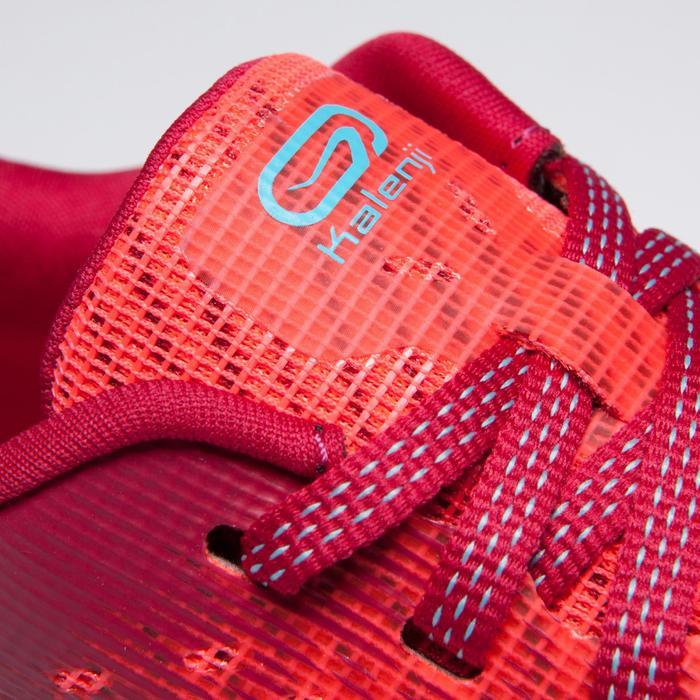 Zapatillas de atletismo para niños Kiprun rosa turquesa