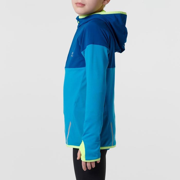 camiseta de manga larga cálida de atletismo para niño kiprun azul