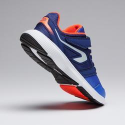 Laufschuhe Run Support Klettverschluss Kinder blau/neonrot