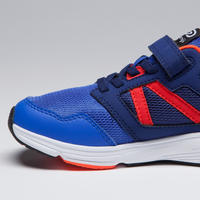 RUN SUPPORT RIP-TAB CHILDREN'S TRACK & FIELD SHOES - BLUE NEON RED