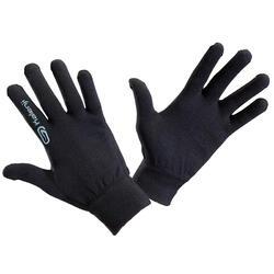 Handschoenen voor atletiek kinderen naadloos zwart