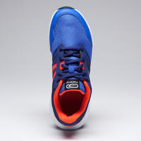 RUN SUPPORT CHILDREN'S TRACK & FIELD SHOES WITH LACES BLUE RED NEON