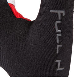 Rugby handschoenen zonder vingers Full H zwart/rood - 135456